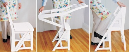 Cadeira que vira escada