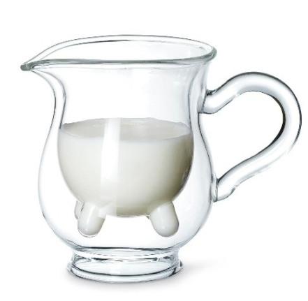 Jarro de leite no formato de tetas de vaca!