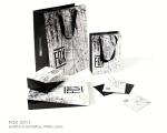 Criação de embalagens e cartão de visitas para a FOX