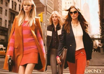 Izabel Goulart e Aline Weber numa foto da DKNY.