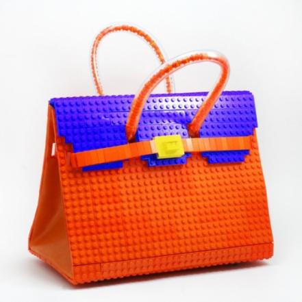 bolsa lego laranja